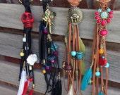 Custom leather keychain/purse charm