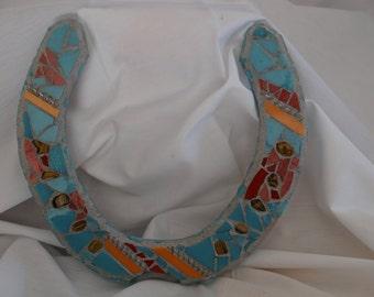 Turquoise Draft Horse Shoe Mosaic