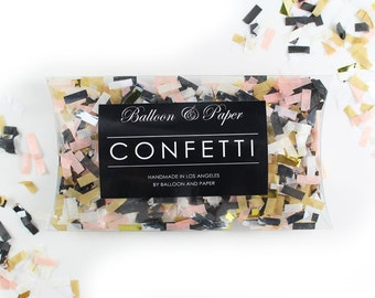 Blush and Black Confetti - one cup