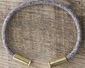 BRZN Recycled .22lr Bullet Casing Tweed Silver 550 Paracord Bracelet