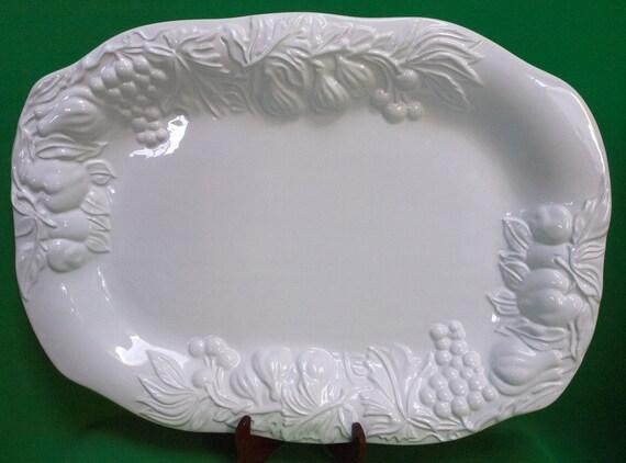 Dmu1148 Extra Large Ceramic White Ceramic Turkey Platter