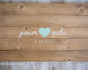 Wedding Guest Book Alternative Wood Sign - Heart