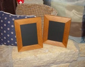 Set of 2 solid cedar wood 5x7 picture photo craft frame oak finish rustic display