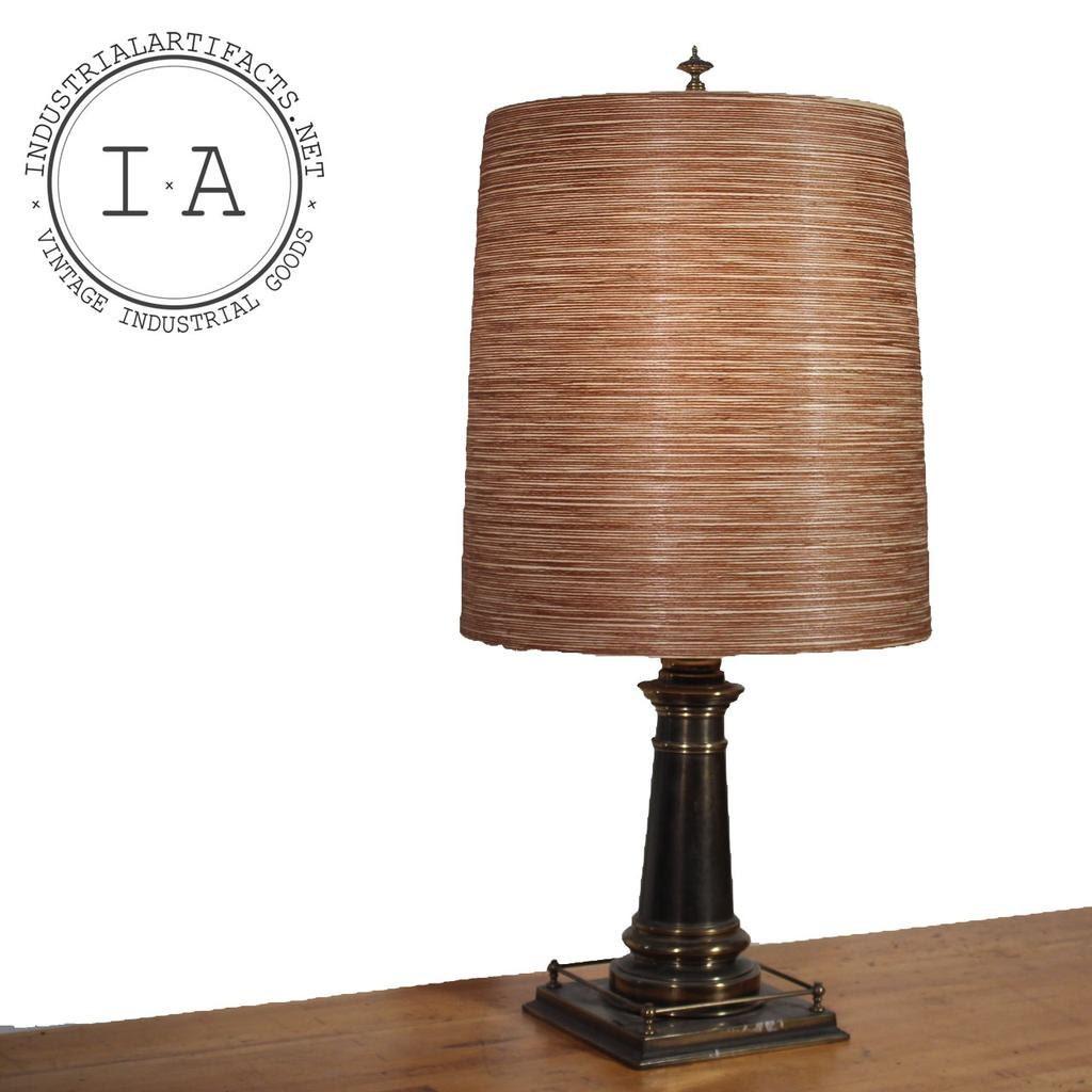 vintage night stand brass end table lamp. Black Bedroom Furniture Sets. Home Design Ideas
