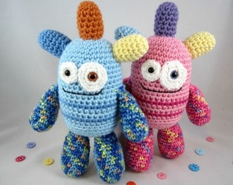 Crochet Monster Plush, Amigurumi Monster, Crochet Alien, Stuffed Monster Toy  by CROriginals