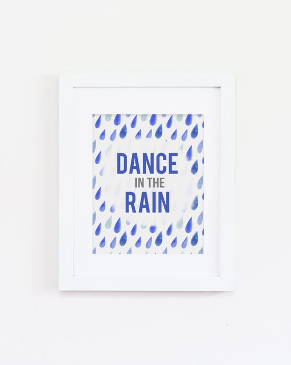 Wall Art Quotes Dance In The Rain : Inspirational wall art dance in the rain home by sushiandqueso