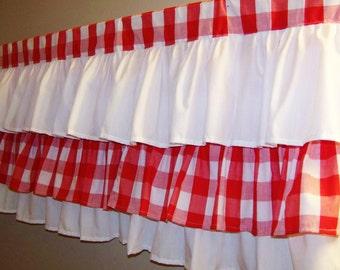 Pom Pom Trim Curtains 1950S-Style Kitchen Curtains