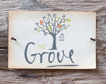 Hand Drawn Logo - Custom Tree Logo -  Detailed Illustrated Logo Design