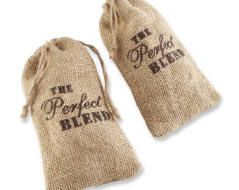 12 Burlap Favor Bags The Perfect Blend Burlap Drawstring Favor Bags Wedding Favor Bags