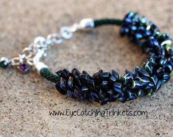 Denium kumihimo bracelet