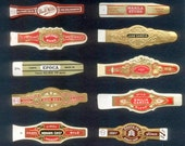10 Vintage Cigar Bands - Decoupage, Collage, Button Making, Altered Books
