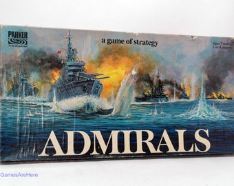 Admirals Sea Battle Strategy Game from Parker Brothers 1972 COMPLETE