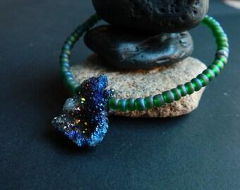 MEDIUM- Lunar Druzy Quartz Nugget Bracelet
