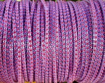 SS6 Purple Pink 2 Rhinestone Banding