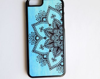 Mandala iphone6 case, Blue ombre iphone6plus, Bohemian iPhone 5 Case, iPhone 4 Case, iPhone 4s Case, Samsung Galaxy s4 s3, Cover