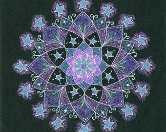 Mandala Art, Mandala Wall Art, Mandala Print, Stars, Star Art, Starry Sky, Cosmic Art, Celestial Art, Winter Art, Sky Art,  Astronomy Art
