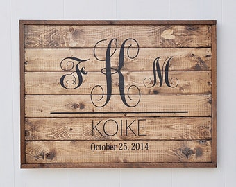 Wedding Gift Idea, Family Established Sign,  Bridal Shower Gift, Family Name sign, Custom Rustic Wood Sign, Anniversary Gift, White
