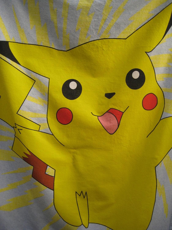 Pokemon Bedroom Decor Pokemon Window Curtains Drapes Set Of 2 Pikachu Craft Nintendo