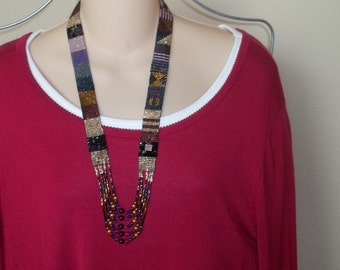 Long beaded necklace - multicolored