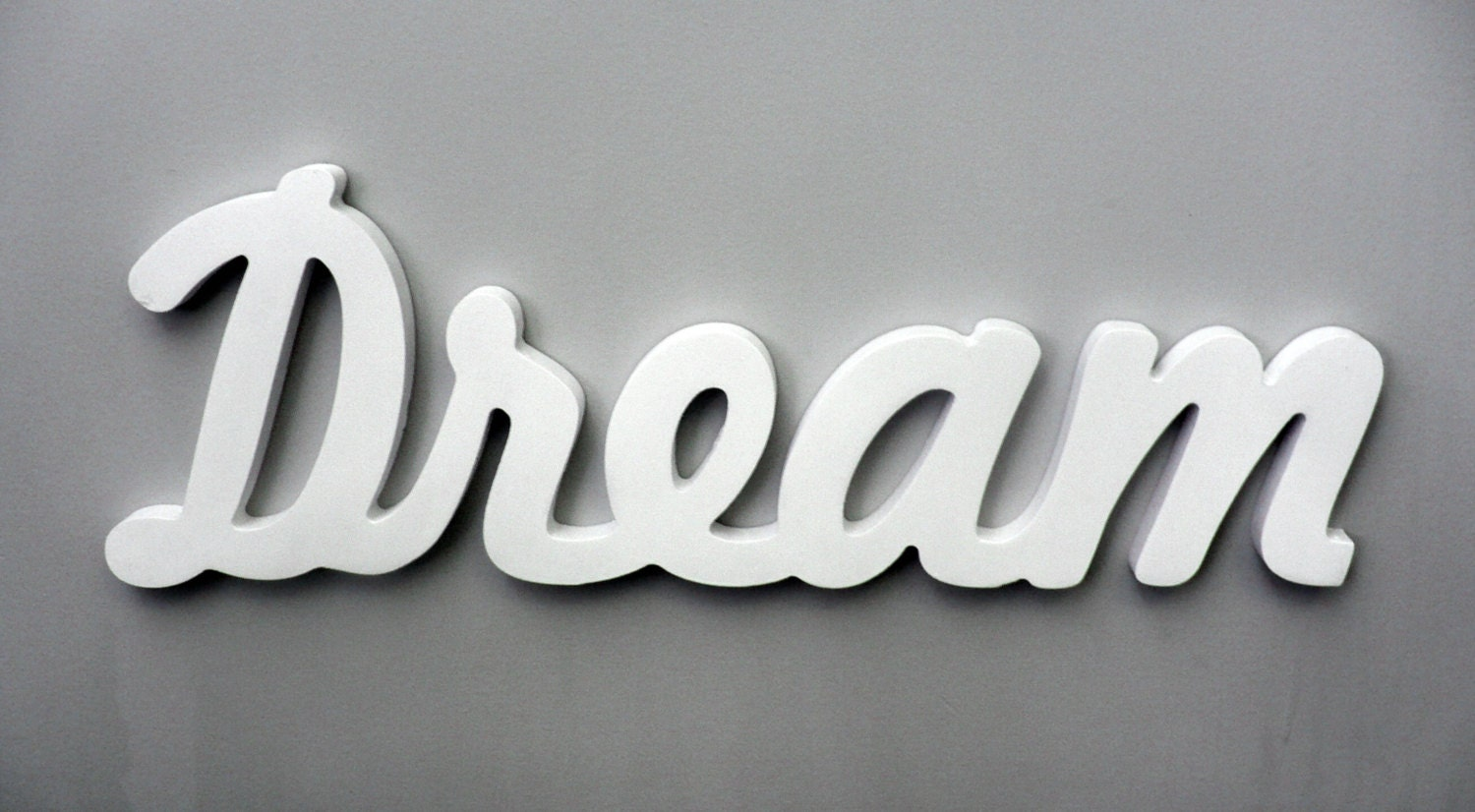 Wooden Words Wall Art : Wooden inspirational wall word dream decor