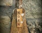 Primitive -Noel-  Christmas - Ruler -Scrabble -Ornament-