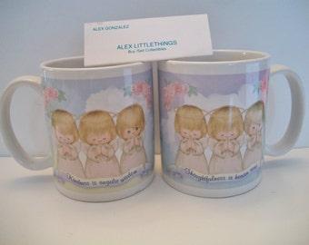 Hallmark three angels coffee mug Kindness Is Angelic Wisdom, Thoughtfulness Is Heaven Sent