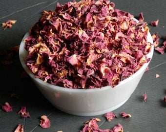 Culinary Rose Petals, Naturally Grown 1 cup, 2 cups, 3 cups