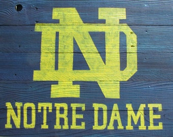 Notre Dame Rustic Sign