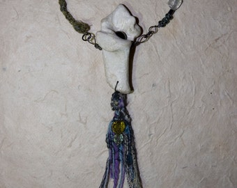 Ghost Lily -bone necklace