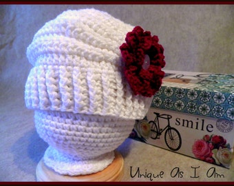 Crocheted Flower Cloche