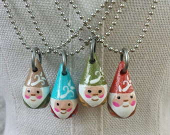 wood gnome necklace