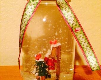 Custom Mason Jar Snow Globe