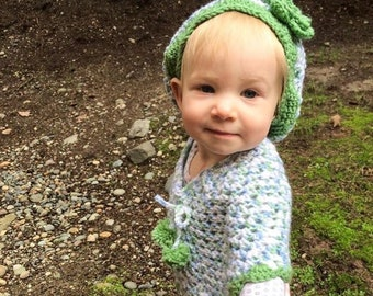 Toddler Poncho and Matching Hat
