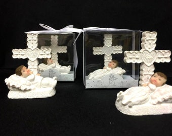 Christening Baby Boy or GIrl Figurine Cake topper top or favor