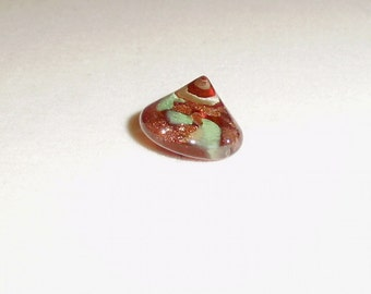 Vintage Weinman Glass Paperweight Xmas Tree Button