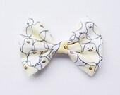 Chick Fabric Bow on Hair Clip or Headband - Little Girl Hair Bow - Easter Hair Bow