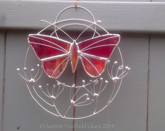 Butterfly and seedhead suncatcher