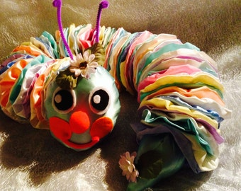 Pretty colourful caterpillar draft excluder