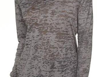 Burnout long sleeve hoodie