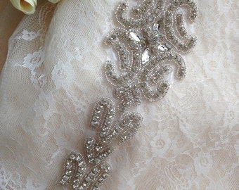 rhinestone applique for wedding sash belt, bridal sash, wedding accessories