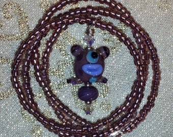 Purple Alien Necklace