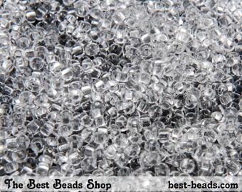 25g (2200pcs) Clear Rocaille 10/0 (2.3mm) Preciosa Czech Glass Seed Beads