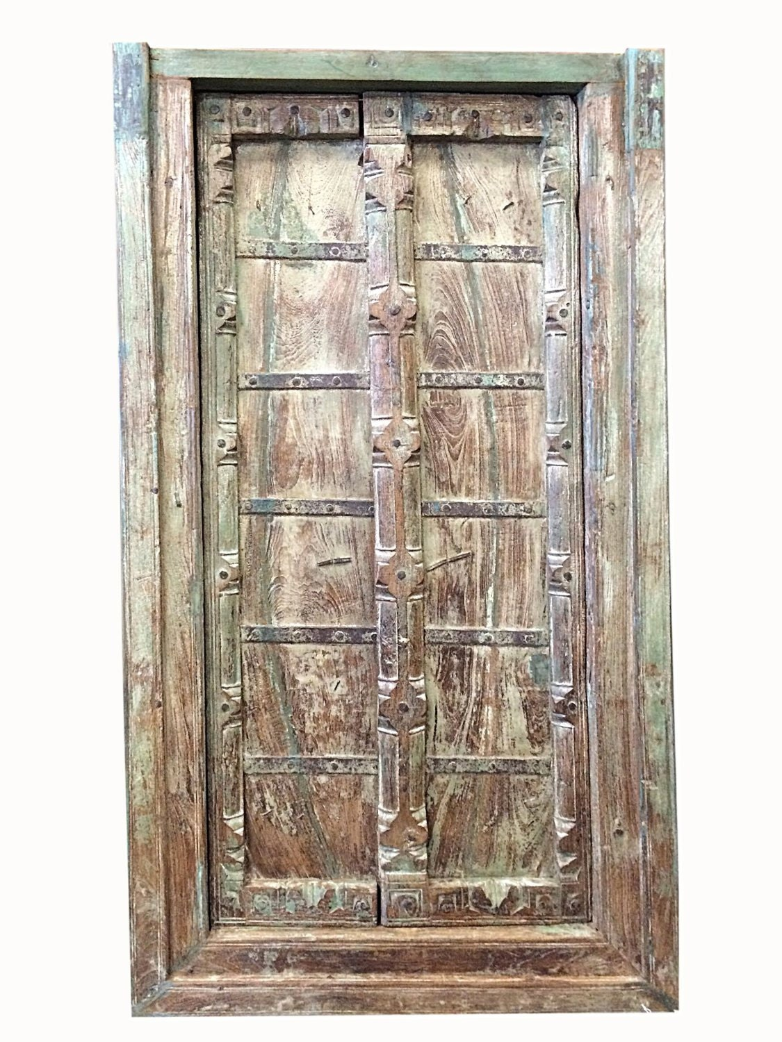Antique doors vintage painted architecture double by for Architecture antique