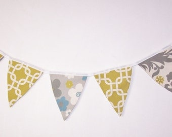Fabric Bunting. Flags. Banner. Wedding Banner. Party Banner. Baby Shower Bunting. Wedding  Bunting. Summerland Yellow. Ready To Ship