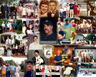 Memorial Collage for Memorial Service or Funeral