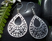 Crystal Vision: Silver Filigree Dangles with Crystals Glass Bead Accents