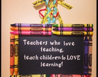 Chalkboard Teacher Decoration