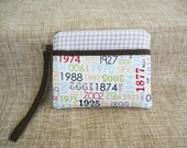 Custom order for Jeweledturtle: Handmade pouch with colourful number fabric