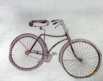 Bike Flour Sack Towel - Bike Towel - Kitchen towel - Tea towel - dish towel - 100% cotton - decorative kitchen towel