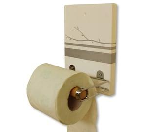 Toilet Paper Holder ,Bathroom Decor ,Silver design